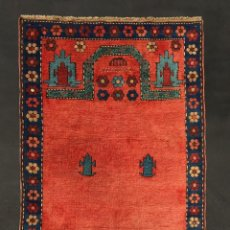 Antigüedades: ALFOMBRA KARABAG DE ORACIÓN SIGLO XIX. Lote 157214454
