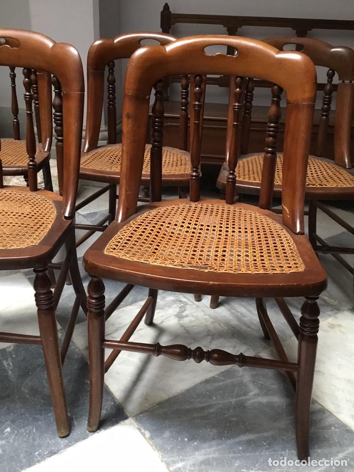 Antigüedades: Lote de 5 sillas Santa Teresa - Foto 2 - 157250374