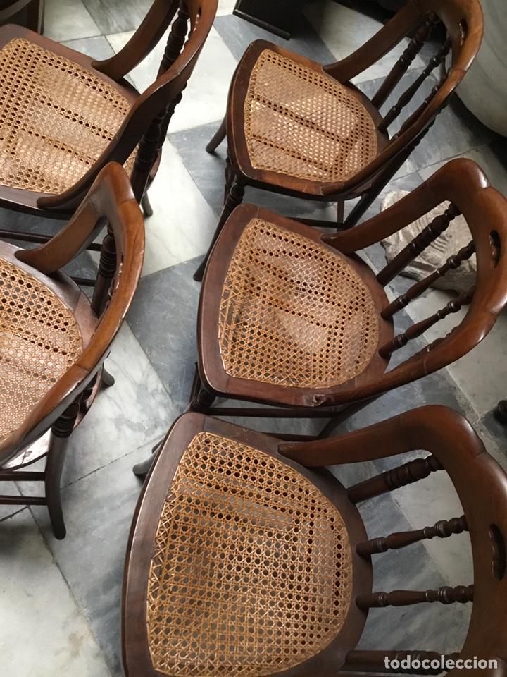 Antigüedades: Lote de 5 sillas Santa Teresa - Foto 3 - 157250374