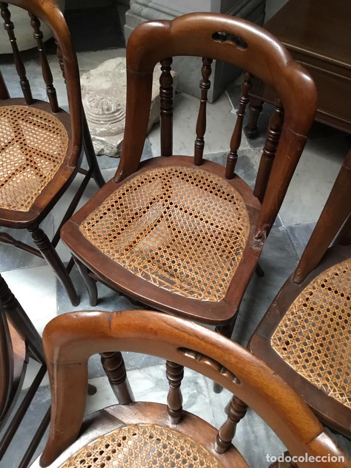 Antigüedades: Lote de 5 sillas Santa Teresa - Foto 4 - 157250374