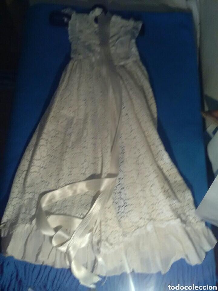 Antigüedades: Vestido de cristianizar, también para virgen capi pota 70 cm attura - Foto 4 - 157256417