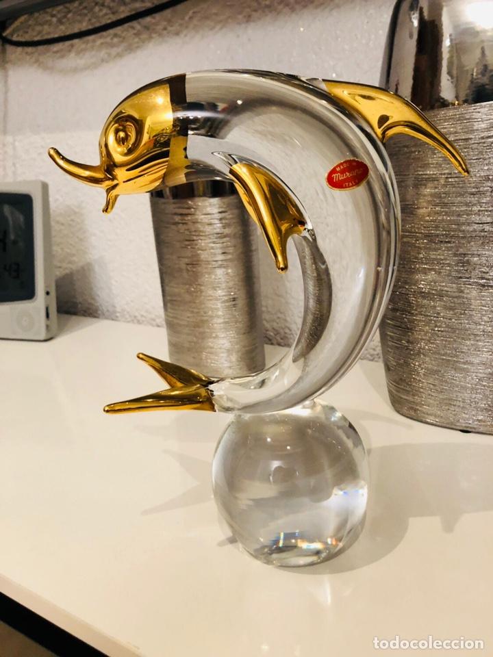 FIGURA CRISTAL MURANO ANTIGUA RARA MADE IN ITALY 30 CM (Antigüedades - Cristal y Vidrio - Murano)