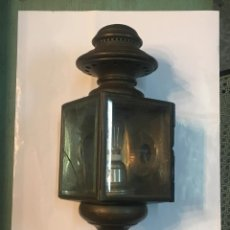 Antiquitäten - Antiguo farol de coche, carruaje. carburo. adaptado a lámpara. ver fotos y leer. - 157262906