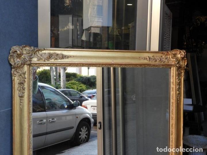 Antigüedades: GRAN ESPEJO ANTIGUO S. XIX MADERA DORADA - Foto 2 - 157313934