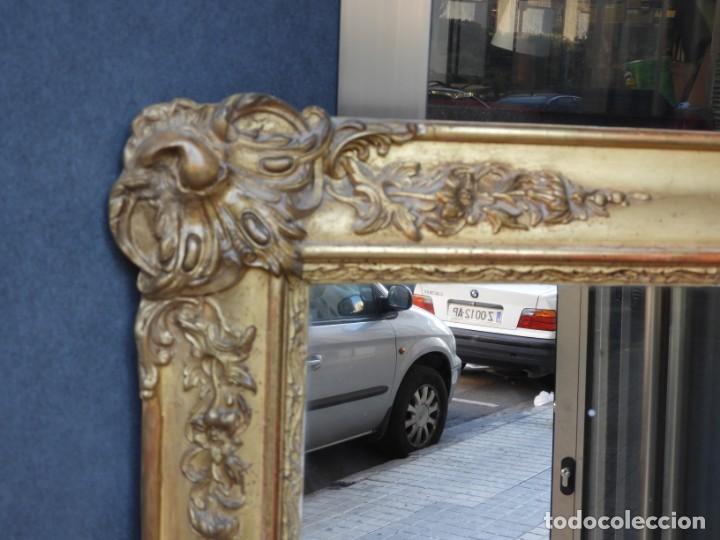 Antigüedades: GRAN ESPEJO ANTIGUO S. XIX MADERA DORADA - Foto 6 - 157313934