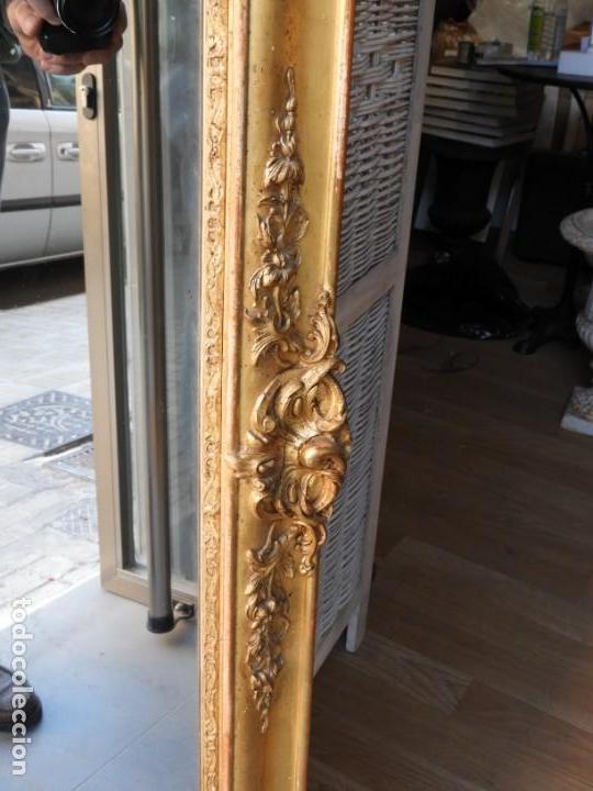 Antigüedades: GRAN ESPEJO ANTIGUO S. XIX MADERA DORADA - Foto 11 - 157313934