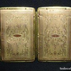Antigüedades: CARNET DE BAILE, SIGLO XIX. COBRE CINCELADO. BOLSO, TARJETERO. Lote 157316406