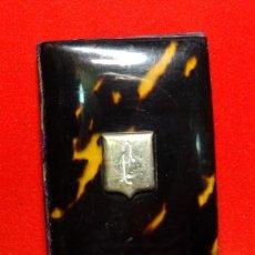 Antigüedades - carnet de baile, siglo XIX , carey plata - 157317134
