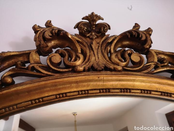 Antigüedades: Espejo oval pan de oro - Foto 4 - 157321324