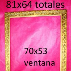 Antigüedades: MARCO ANTIGUO MADERA DORADA IDEAL PINTURA OLEO ESPEJO. Lote 157354382