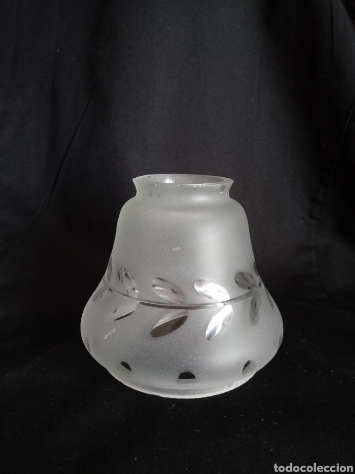 Antigüedades: Tulipa de cristal al ácido tallado - Foto 2 - 157367512