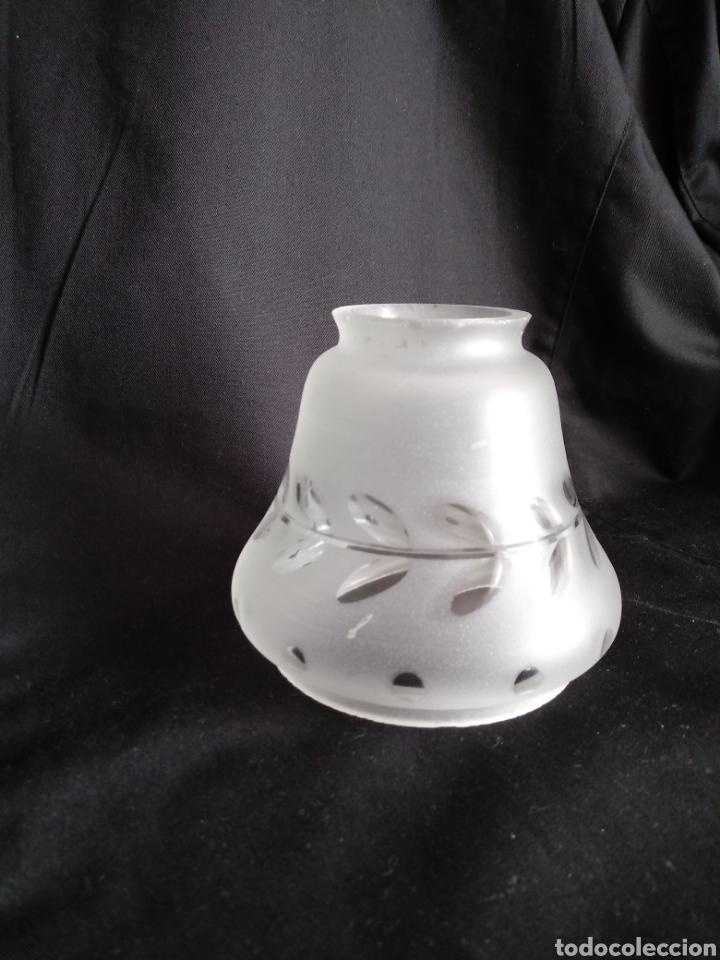 Antigüedades: Tulipa de cristal al ácido tallado - Foto 3 - 157367512