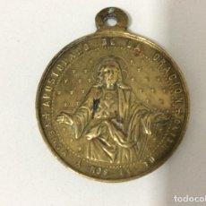 Antigüedades: MEDALLA DEL APOSTOLADO DE LA ORACIÓN. POR MARIA A JESUS . MEDIAS 3,2 CM DE DIÁMETRO. Lote 157384802
