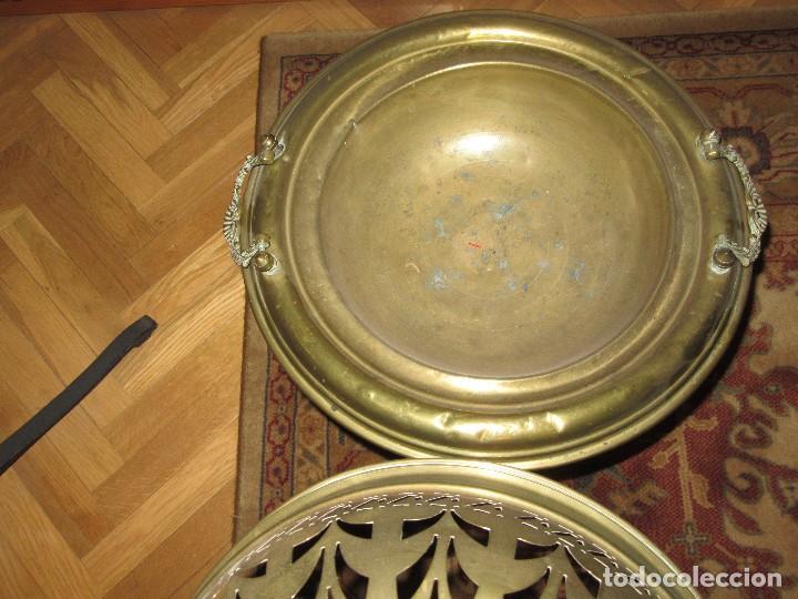 Antigüedades: BRASERO DE BRONCE ANTIGUO - Foto 2 - 157396498