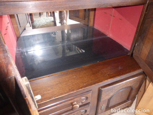 Antigüedades: ANTIGUO APARADOR DE MADERA DE ROBLE - Foto 4 - 157404446
