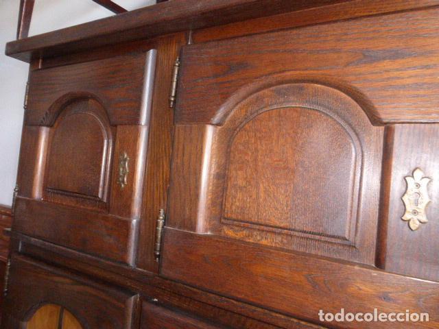 Antigüedades: ANTIGUO APARADOR DE MADERA DE ROBLE - Foto 9 - 157404446