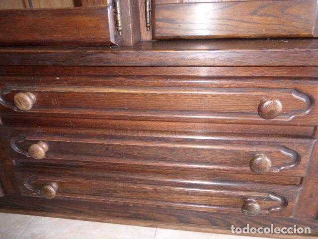 Antigüedades: ANTIGUO APARADOR DE MADERA DE ROBLE - Foto 12 - 157404446