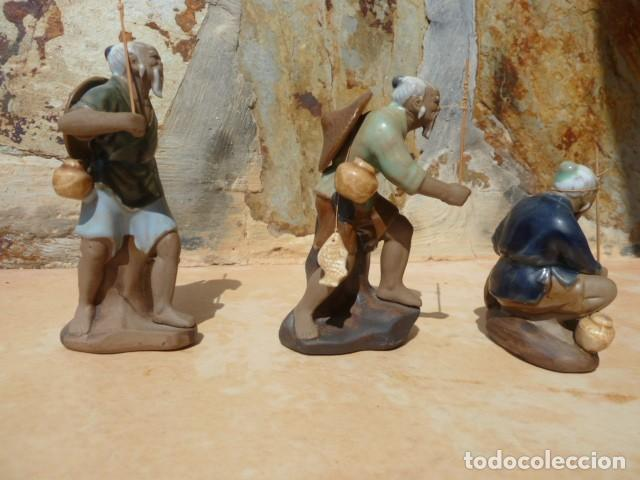 Antigüedades: Lote tres pescadores chinos. Wan Jiang? - Foto 6 - 157505962