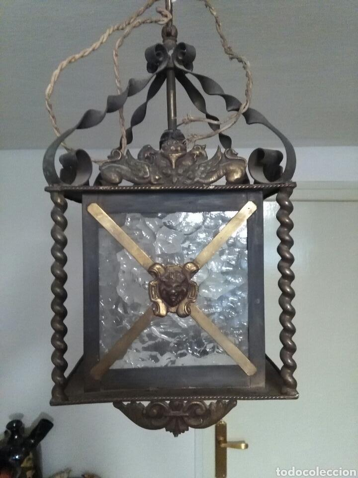 FAROL MODERNISTA (Antigüedades - Iluminación - Faroles Antiguos)