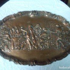 Antigüedades: BANDEJA COBRE OVALADA, 45X29 CM. 30 BUEN ESTADO. Lote 157593198
