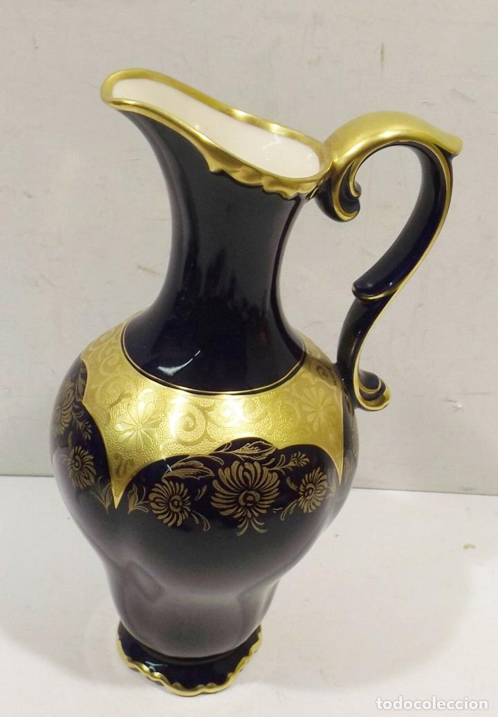 Antigüedades: ANTIGUA Y PRECIOSA Lindner Kueps Bavaria jarra genuino cobalto oro grabado oro Rin FIRMADA 125,00 € - Foto 2 - 157721134
