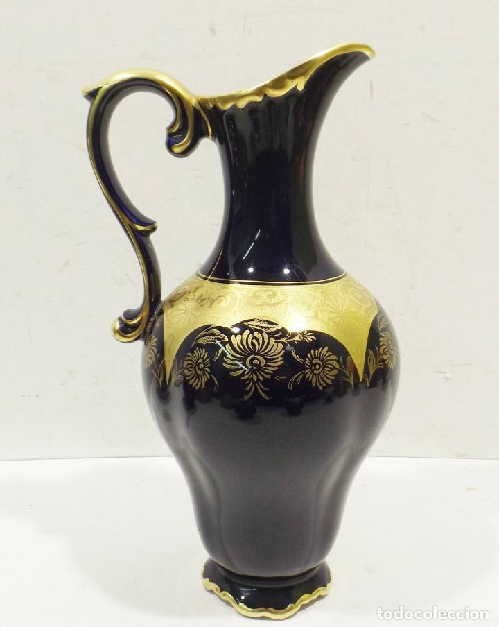 Antigüedades: ANTIGUA Y PRECIOSA Lindner Kueps Bavaria jarra genuino cobalto oro grabado oro Rin FIRMADA 125,00 € - Foto 4 - 157721134