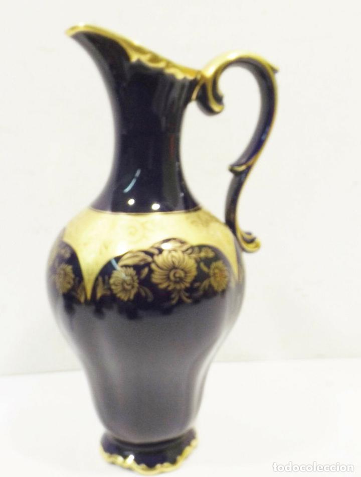 Antigüedades: ANTIGUA Y PRECIOSA Lindner Kueps Bavaria jarra genuino cobalto oro grabado oro Rin FIRMADA 125,00 € - Foto 6 - 157721134