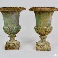 Antigüedades: PAREJA DE COPAS EN HIERRO COLADO.FINALES DEL SIGLO XIX.. Lote 157731070