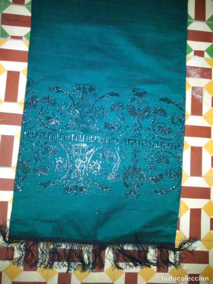 Antigüedades: Estola pañolon manton traje regional brocado fallerra charra baturra fajin virgen esperanza - Foto 3 - 157742762