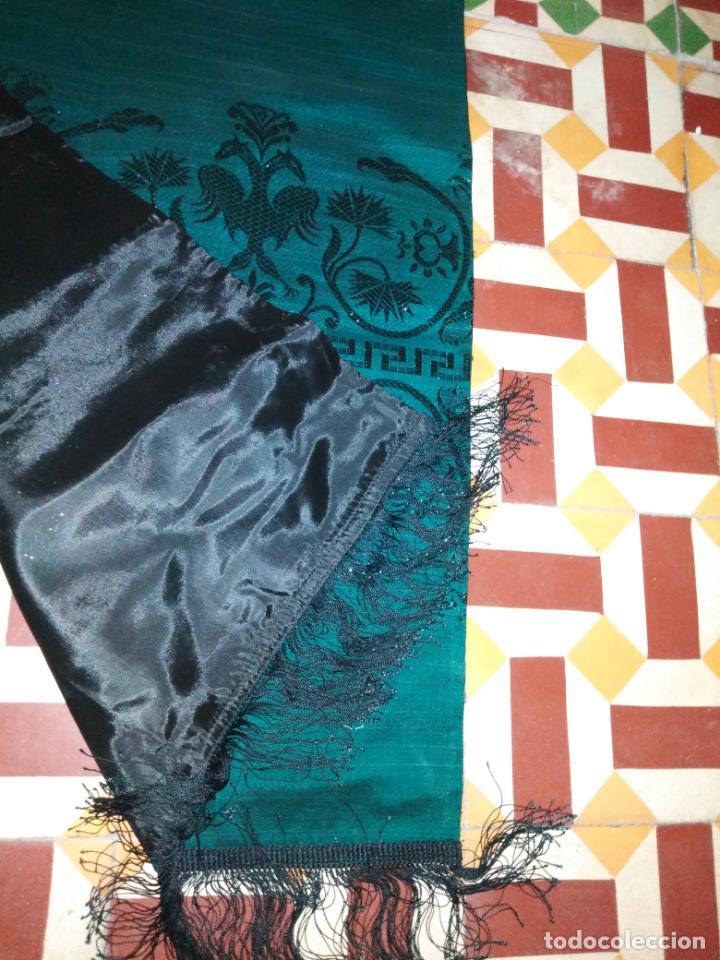 Antigüedades: Estola pañolon manton traje regional brocado fallerra charra baturra fajin virgen esperanza - Foto 4 - 157742762