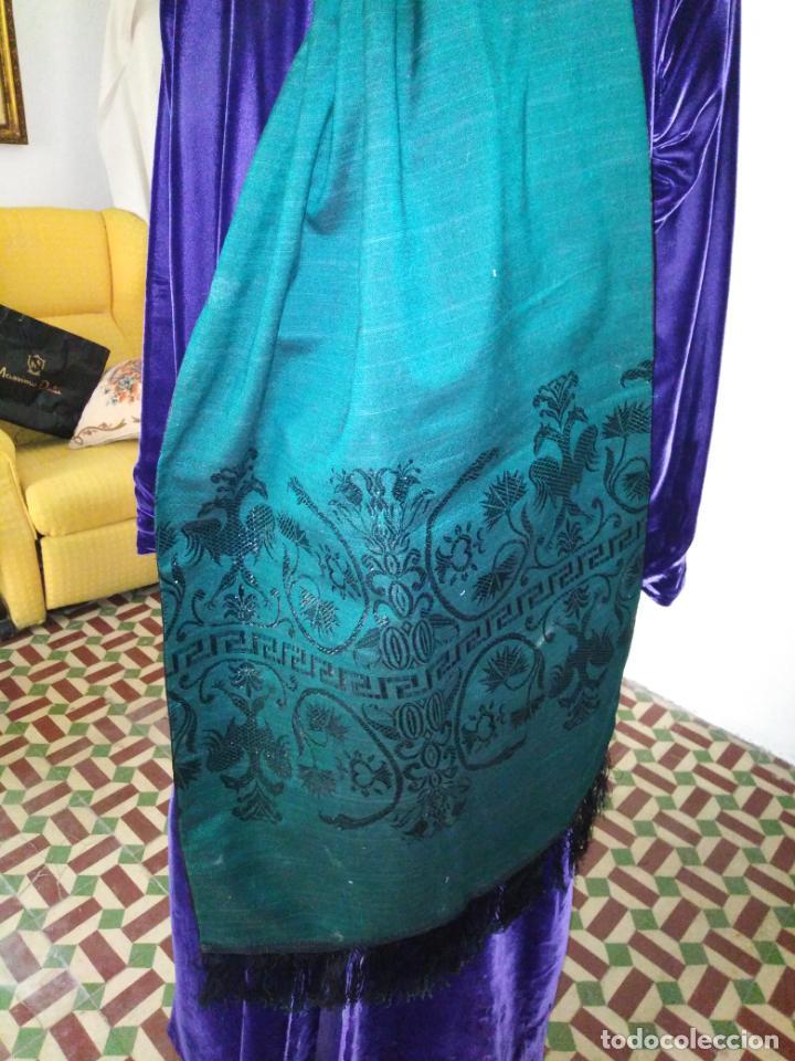 Antigüedades: Estola pañolon manton traje regional brocado fallerra charra baturra fajin virgen esperanza - Foto 5 - 157742762