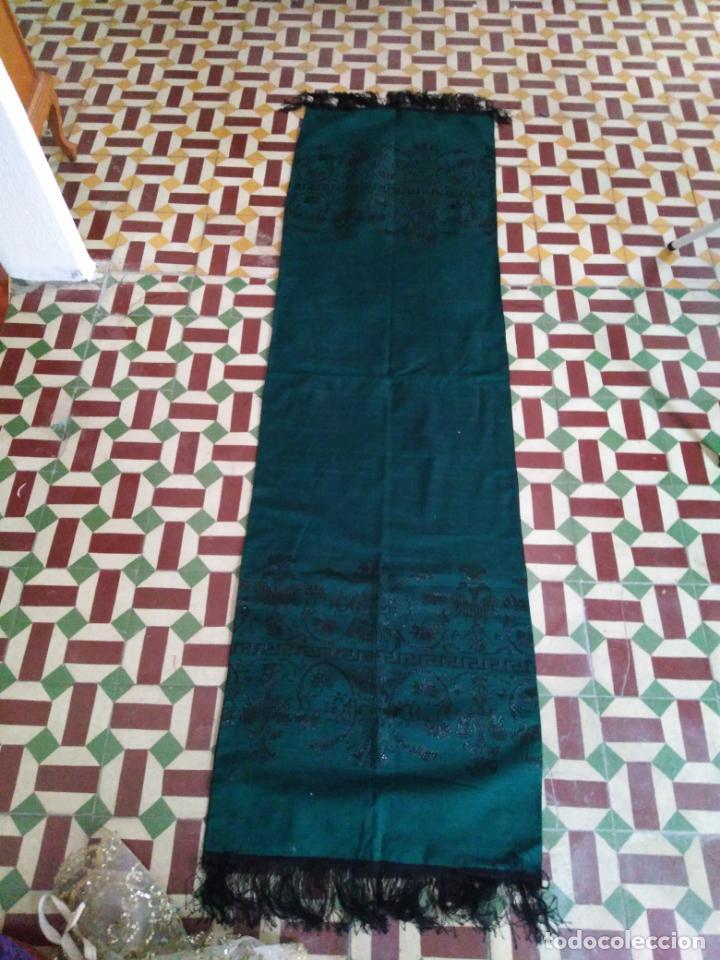 Antigüedades: Estola pañolon manton traje regional brocado fallerra charra baturra fajin virgen esperanza - Foto 6 - 157742762