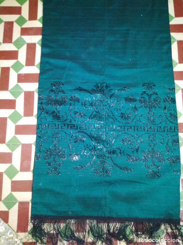 Antigüedades: Estola pañolon manton traje regional brocado fallerra charra baturra fajin virgen esperanza - Foto 7 - 157742762