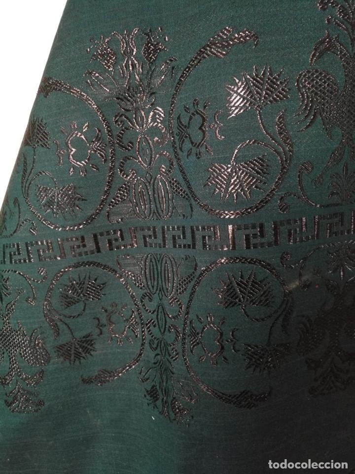 Antigüedades: Estola pañolon manton traje regional brocado fallerra charra baturra fajin virgen esperanza - Foto 8 - 157742762