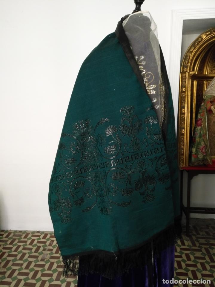Antigüedades: Estola pañolon manton traje regional brocado fallerra charra baturra fajin virgen esperanza - Foto 11 - 157742762