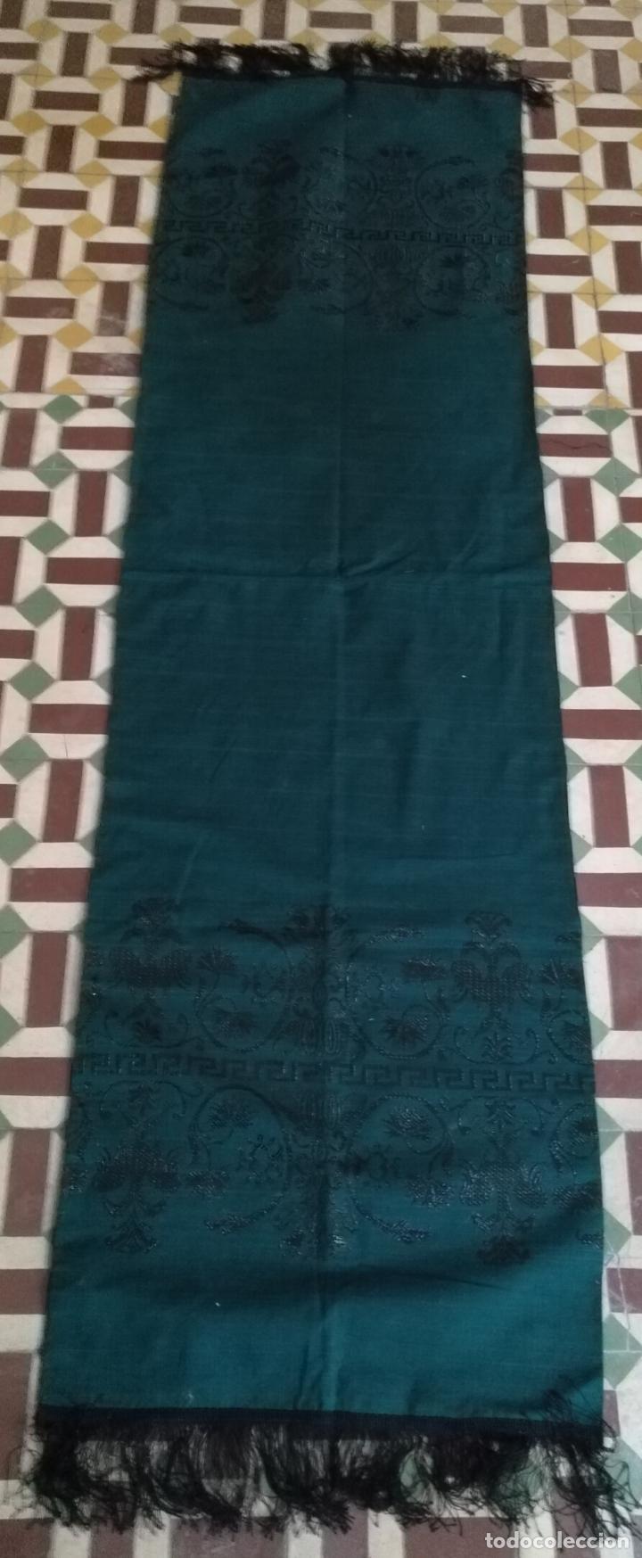 Antigüedades: Estola pañolon manton traje regional brocado fallerra charra baturra fajin virgen esperanza - Foto 13 - 157742762