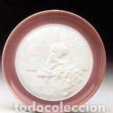 """Antigüedades: REF: 01015998 """"PLATO NIÑA A LA VENTANA"""" LLADRÓ. Lote 157743718"""
