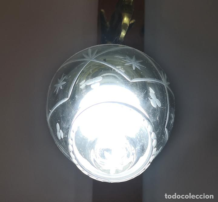 Antigüedades: Lámpara de techo de cristal y bronce - Foto 3 - 157748814