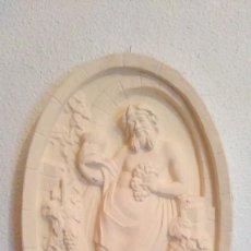 Antigüedades: BONITO Y ORIGINAL PLAFON MEDALLON DE BACO, DIOS DEL VINO.. Lote 157802766
