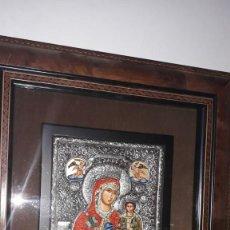 Antigüedades: ICONO BIZANTINO PLATA DE LEY. Lote 157809978