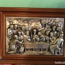 Antigüedades: CUADRO LA ÚLTIMA CENA ANTIGUO. Lote 157827176