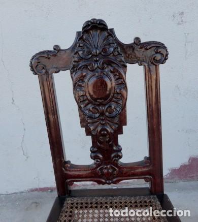 Antigüedades: 9 sillas Chipendal en madera de caoba - Foto 4 - 157842134