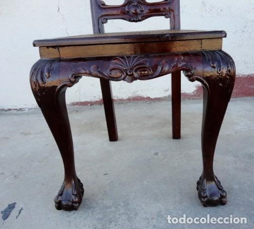 Antigüedades: 9 sillas Chipendal en madera de caoba - Foto 5 - 157842134