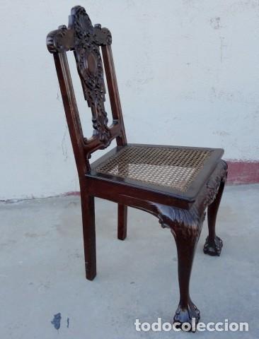 Antigüedades: 9 sillas Chipendal en madera de caoba - Foto 6 - 157842134