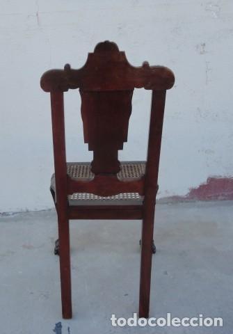 Antigüedades: 9 sillas Chipendal en madera de caoba - Foto 7 - 157842134