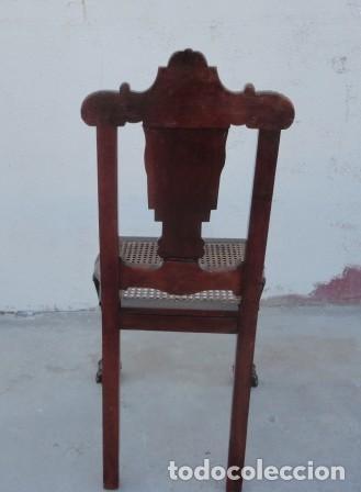 Antigüedades: 9 sillas Chipendal en madera de caoba - Foto 8 - 157842134