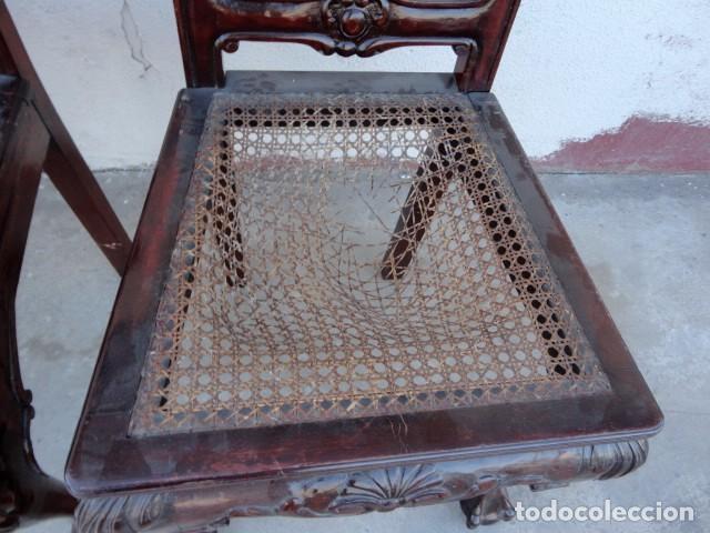 Antigüedades: 9 sillas Chipendal en madera de caoba - Foto 11 - 157842134