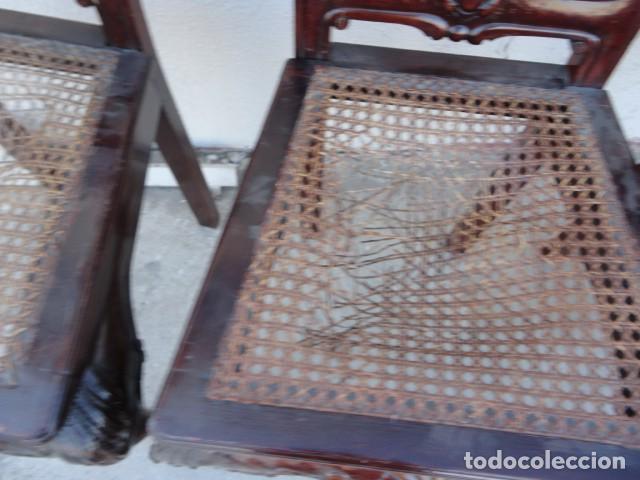 Antigüedades: 9 sillas Chipendal en madera de caoba - Foto 12 - 157842134