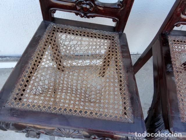 Antigüedades: 9 sillas Chipendal en madera de caoba - Foto 13 - 157842134