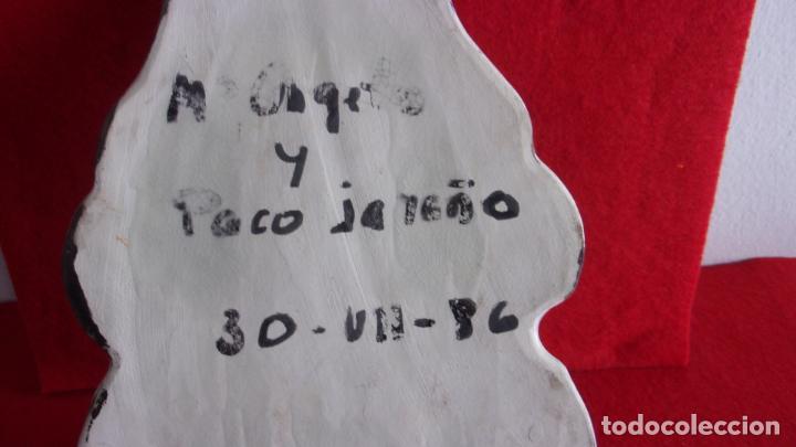 Antigüedades: benditera,firmada por Paco Jareño y otro,pienso de talavera o Teruel - Foto 4 - 157849914